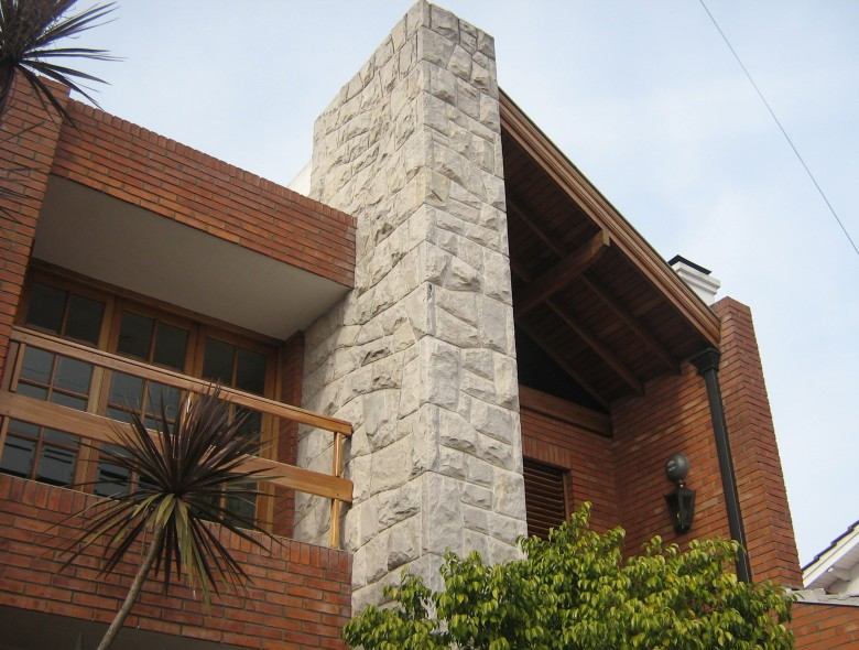 Obras lajas quilmes for Ceramica para fachadas exteriores